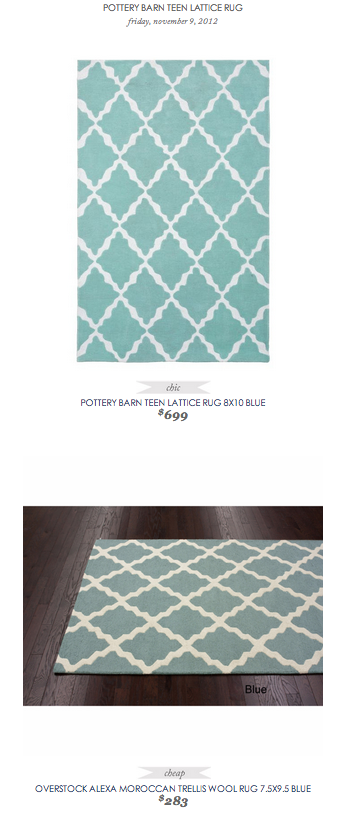 Copy Cat Chic Find Pottery Barn Teen Lattice Rug 8x10