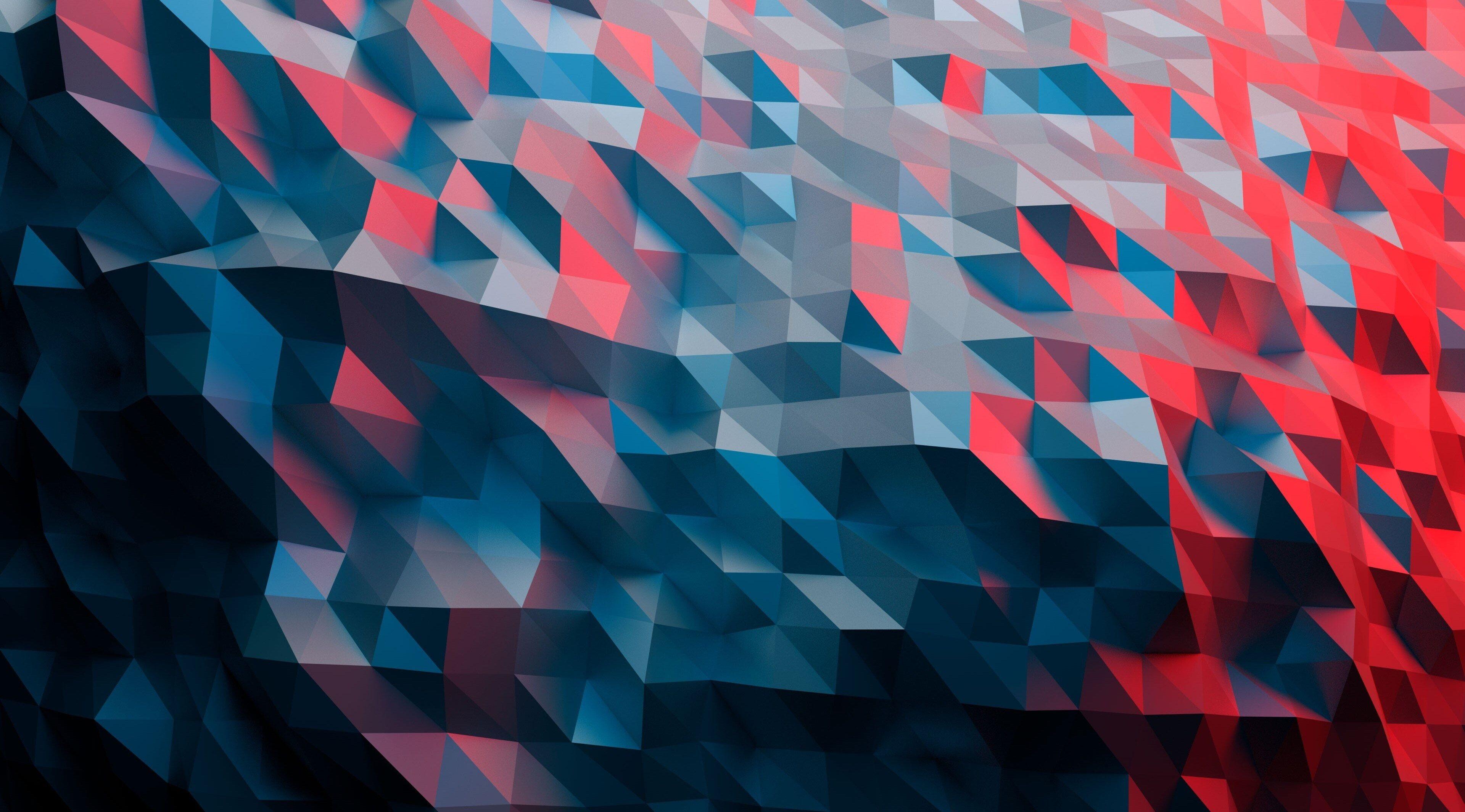 3840x2130 polygon 4k image of best wallpaper