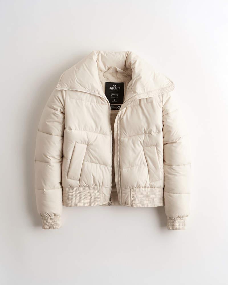 Girls Faux Fur Lined Mockneck Puffer Jacket Girls Jackets Coats Hollisterco Com Jackets Puffer Jackets Girls Jacket [ 1000 x 800 Pixel ]