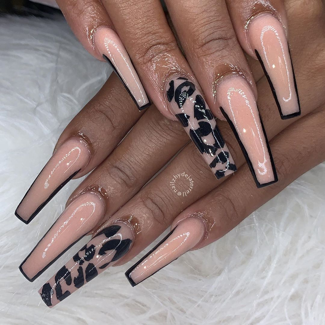Deja On Instagram Hand Made Cheetah Decalz Only 10 Visit Www Twinkletipznailsupply Store For Cute Acrylic Nails Cheetah Acrylic Nails