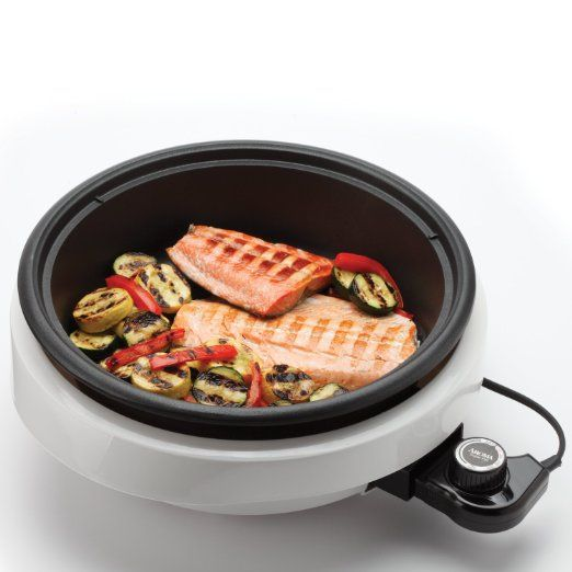 Amazon.com: Aroma Housewares ASP-137 3-Quart/10-inch 3-in-1 Super Pot with Grill Plate, White/Black: Hot Pot: Kitchen & Dining