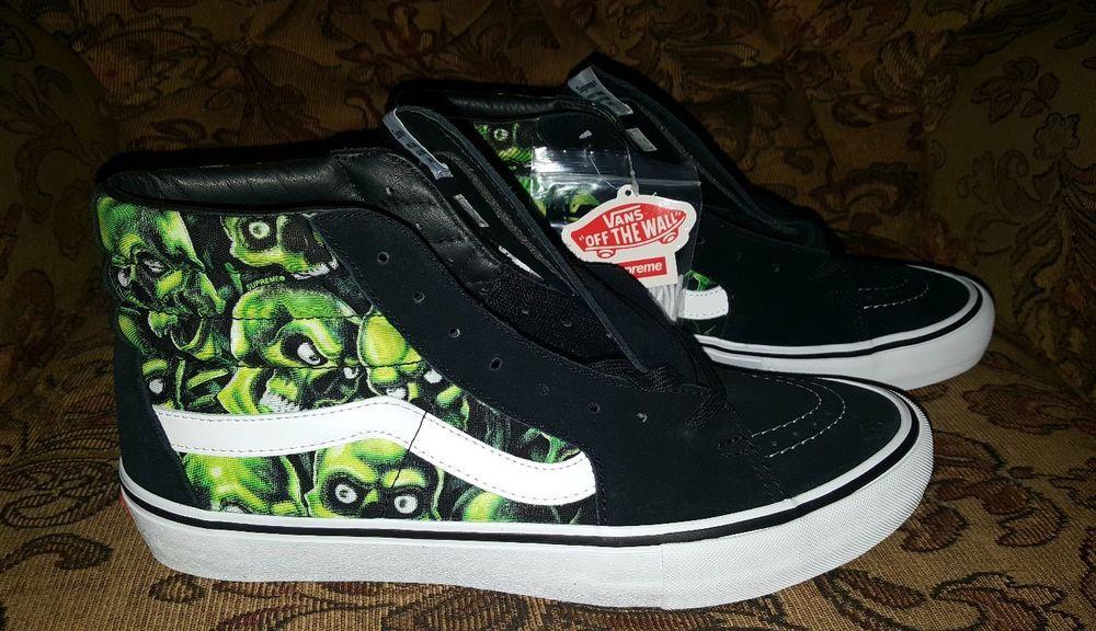 eff2686e8f Supreme Skull Pile Vans Sk8-Hi sz.13 w Skull Pile BOGO Glow in the Dark in  hand  VANS  Skateboarding