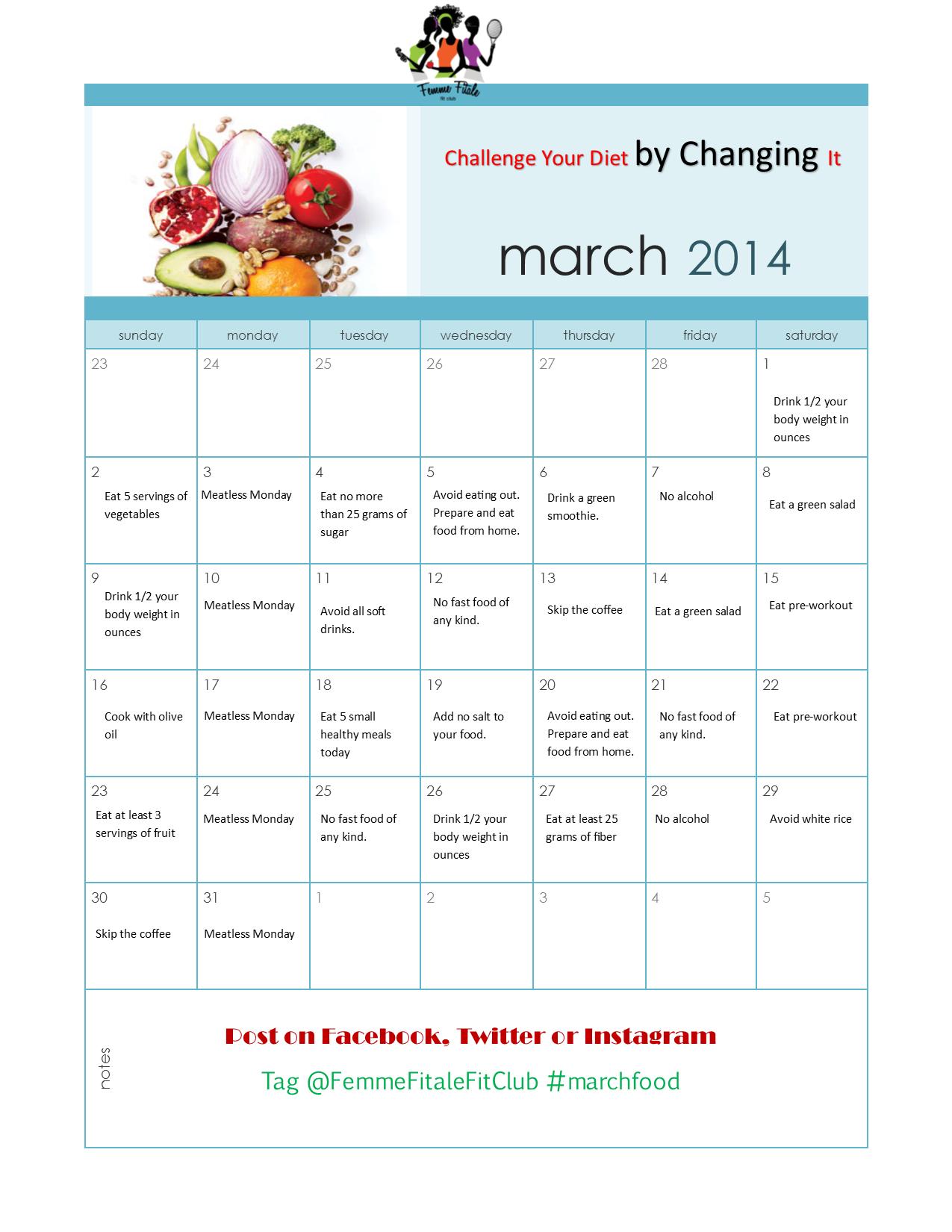 raw fitness challenge diet plan
