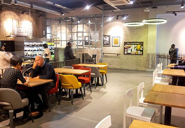 Coffee Shop Design | Cafe Design | Retail Design | Costa Coffee Brixton, London
