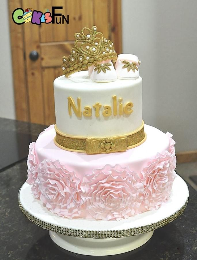 Princess Baby Shower Cake Cake By Cakes For Fun Delightful Fun