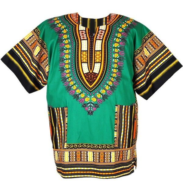 African Dashiki Mexican Poncho Hippie Tribal Ethic Boho Shirt Green... ($15) ❤ liked on Polyvore featuring tops, green poncho, tribal poncho and hippie poncho