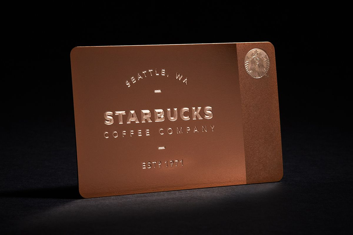 Starbucks Limited Edition Metal Gift Card for Gilt | Gift cards ...