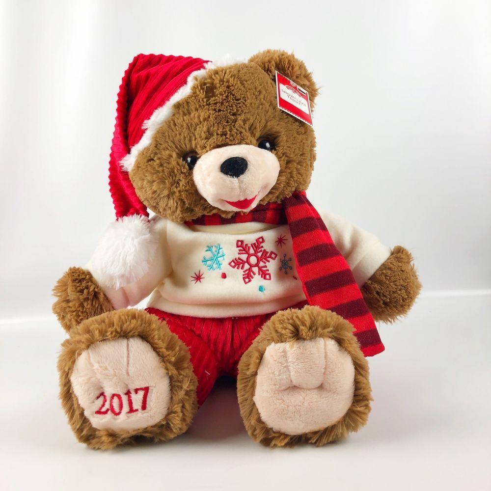 e67bafbb7e765 Holiday Snowflake Teddy Bear Stuffed Plush Toy 2017 Santa Hat Scarf 20 inch  New  DanDee
