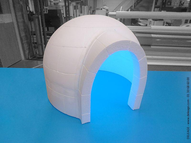 Awesome igloo en polystyrne with igloo decoration noel exterieur - Igloo decoration noel exterieur ...