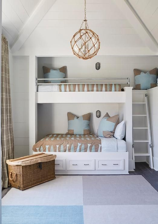 Brown and blue bunk room Home Pinterest Bunk rooms, Room and