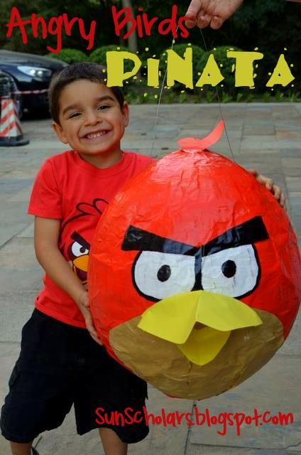 A great collection of Angry Birds ideas, including this amazing pinata at Sun Scholars