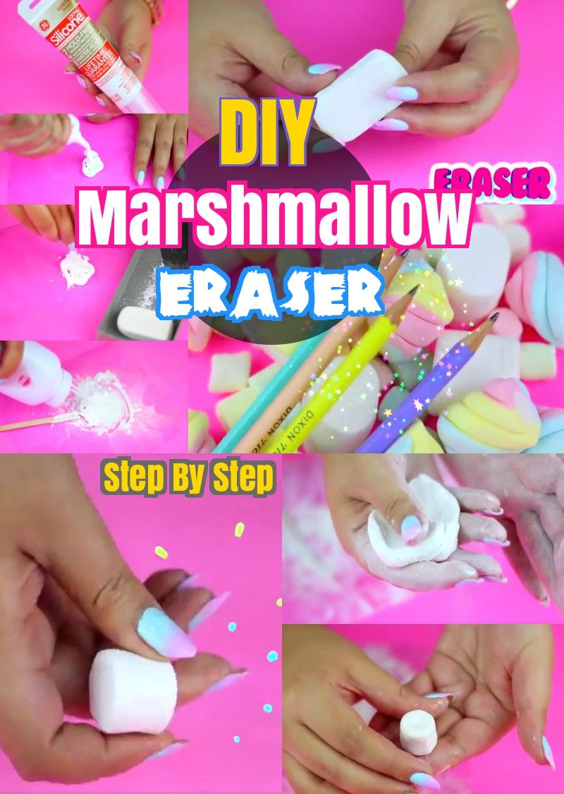 Diy Back To School Crafts How To Make Marshmallow Eraser