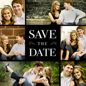 Mixbook Elegant Square Save The Date Cards Like This Since We Can Mix Family And Engagement Pics