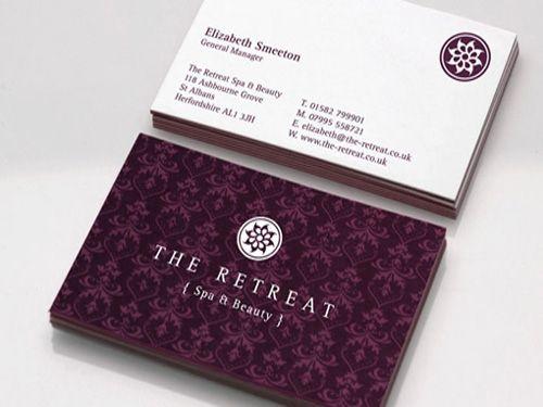 Elegant Spa Business Card | Beauty Salon & Spa Businesses ...