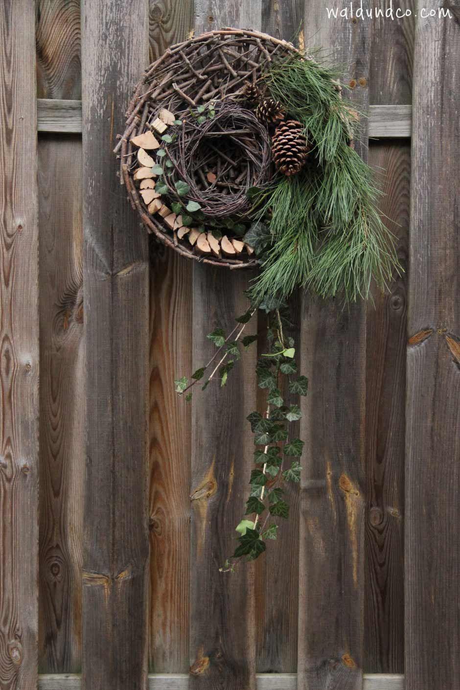 Our beautifully self made wreath. Wald & Co http://www.waldundco.com/ein-schoner-kranz-aus-naturmaterialien/