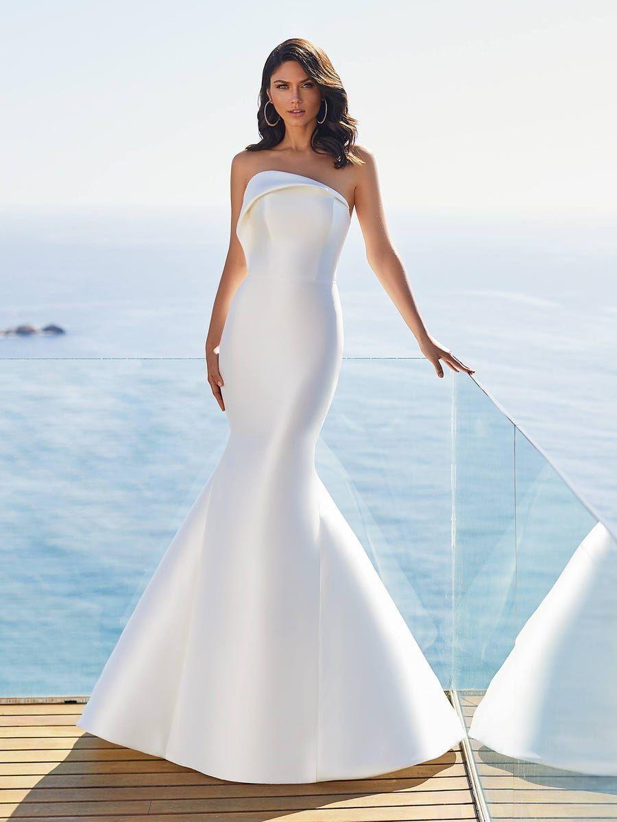 Anki In 2020 Wedding Dresses Mermaid Wedding Dress Pronovias Wedding Dress [ 1200 x 900 Pixel ]