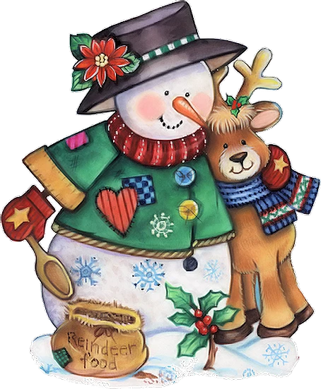 Snowman And Reindeer Free Png Images Free Digital Image Download Upcrafts Design In 2020 Christmas Snowman Snowman Clipart Christmas Clipart