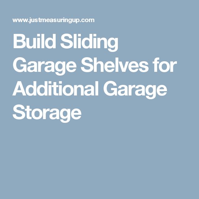 Garage Storage Shelves, Diy