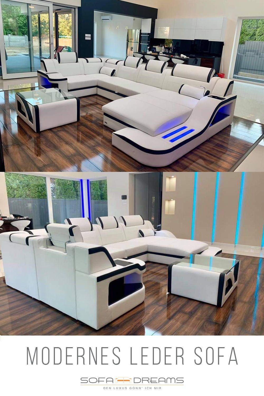 Xxl Wohnlandschaft Palermo Leder In 2020 Wohnen Stilvolle Wohnzimmer Leder Wohnzimmer