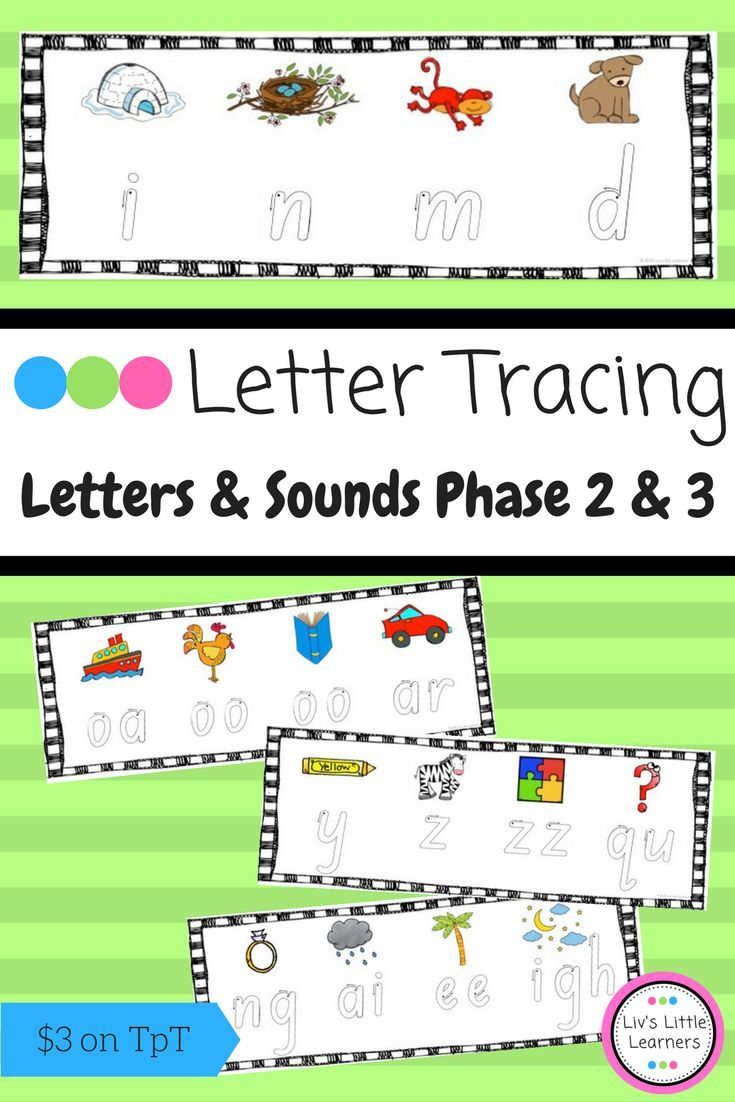 Letters and Sounds Phase 2 & 3 Letter Formation Tracing