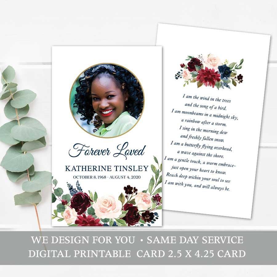 Mass Card Template For Memorial Service Keepsake Prayer Cards Funeral Guest Book Funeral Poems