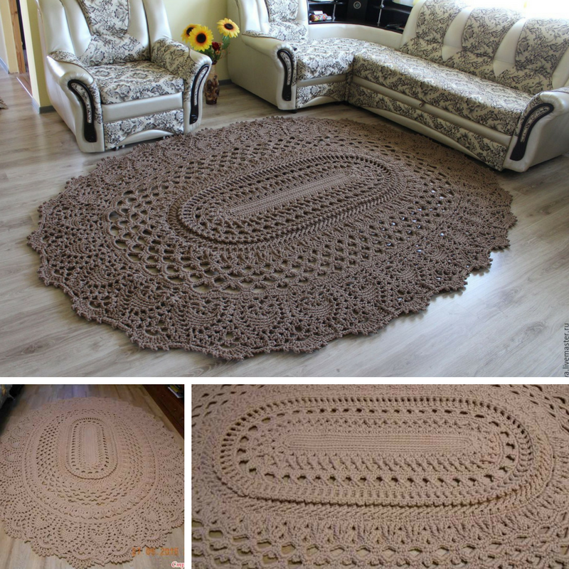 Giant Area Rugs Free Crochet Patterns | Trapillo y Ganchillo