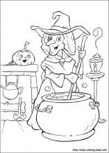 Halloween Coloring Pages On Coloring Book Info Witch Coloring Pages Halloween Coloring Pages Halloween Coloring