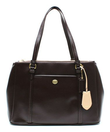 ac762b877fdffc Another great find on  zulily! Mahogany Peyton Jordan Leather Satchel by  Coach  zulilyfinds
