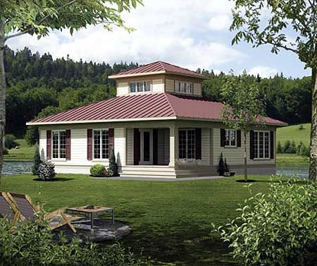 Plan 80746pm Cupola Retreat Country Style House Plans Unique House Plans Cottage House Plans
