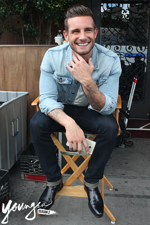 Nico Tortorella breaks out that gorgeous and charming smile on the set of Younger. New episodes Wednesdays at 10/9C on TV Land. Click to discover full episodes.