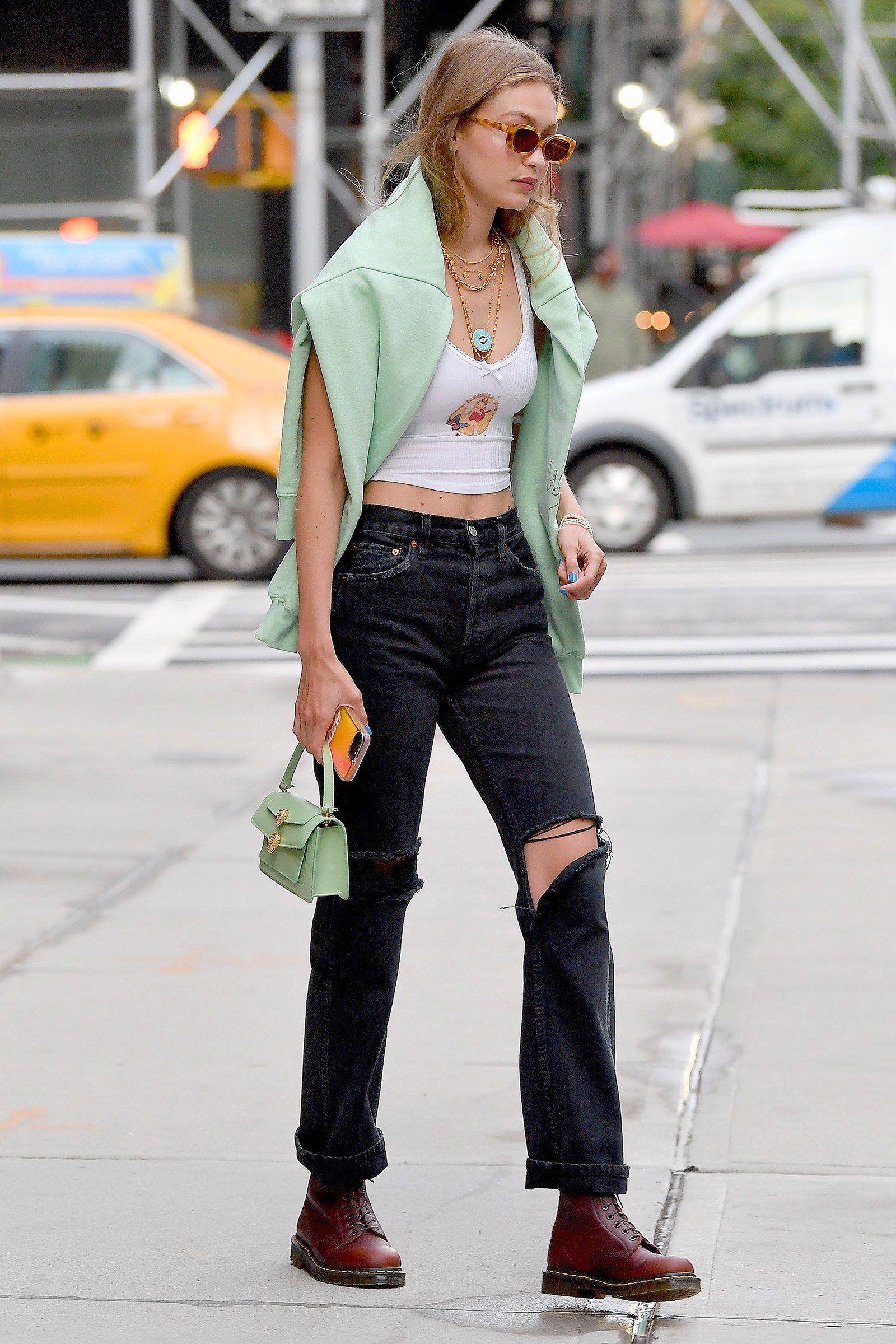 Gigi Hadid Gives Alexander Wang's Bvlgari Collection Its Street Style Debut