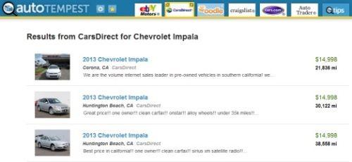Autotempest Review Enough To Be Useful Comparenow Com Car
