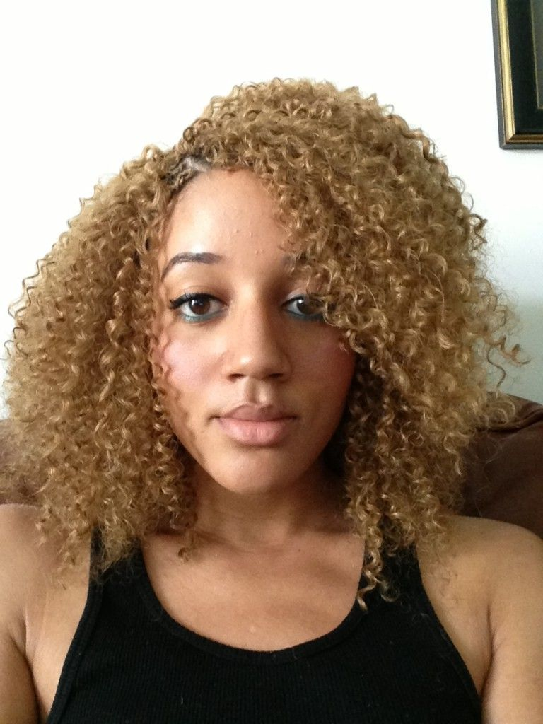 Blonde Crochet Braids Latch Hook Natural Hair Inspiration