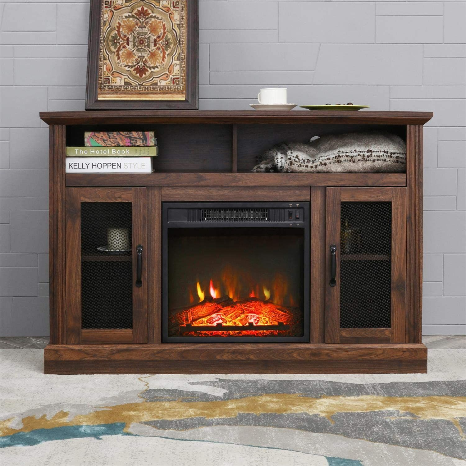 Patiofestival Fireplace Tv Stand Electric Fire Place Heaters Entertainment Center Corner Tv Console W Fireplace Tv Stand Tv Console With Fireplace Fireplace Tv