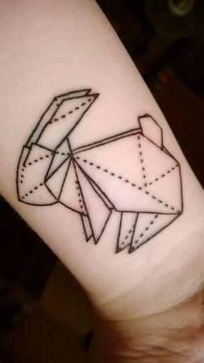 Rabbit Tattoo Geometric