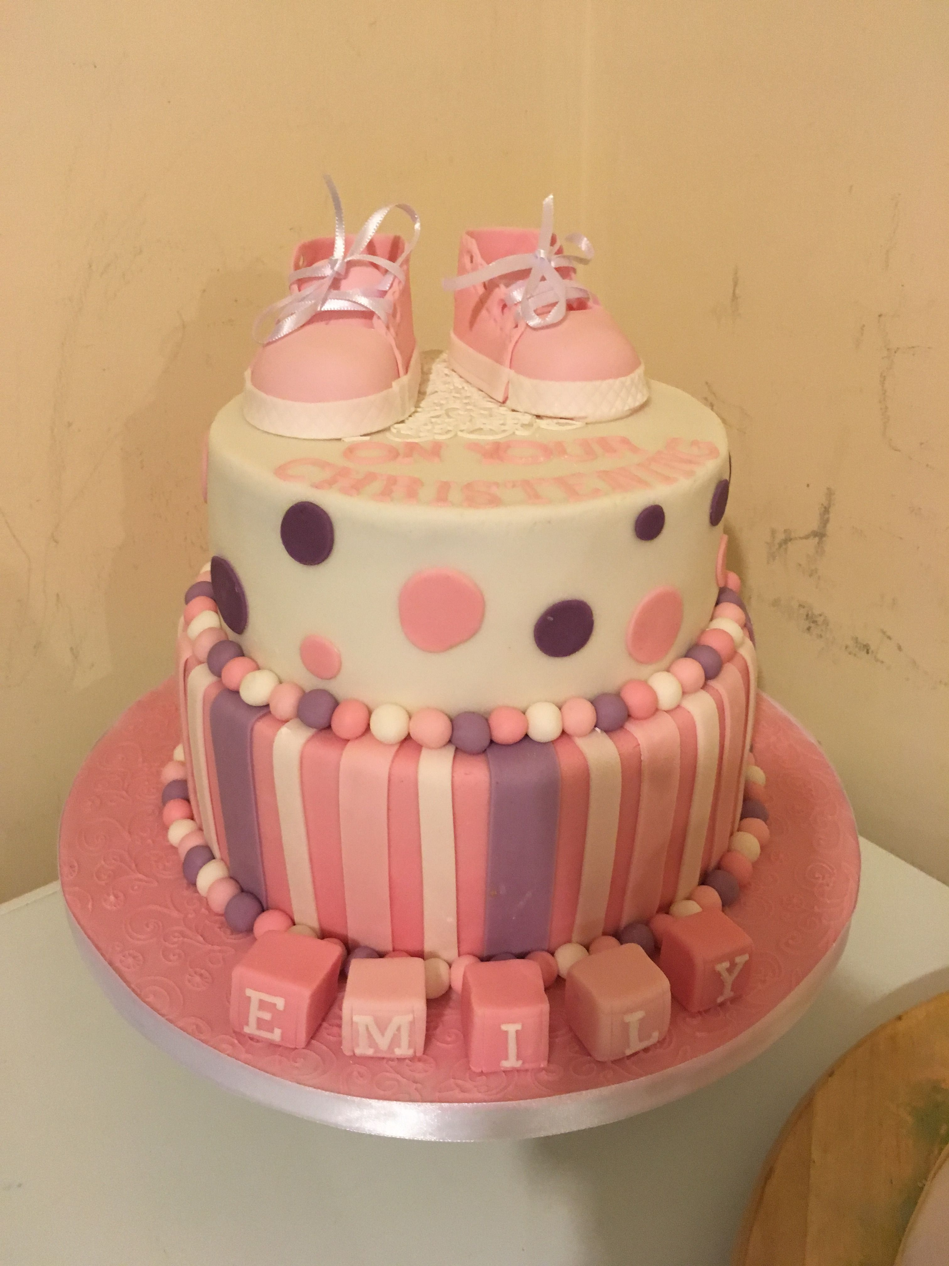Christening cake, baby girl
