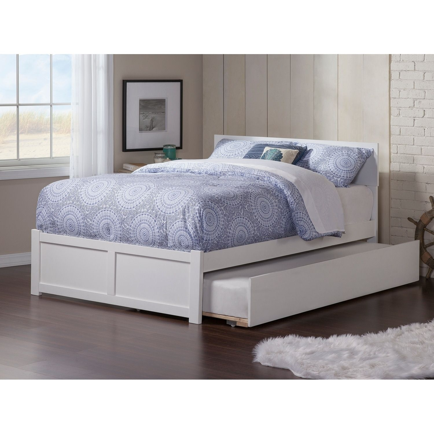 Orlando Full Platform Bed with Flat Panel Foot Board and