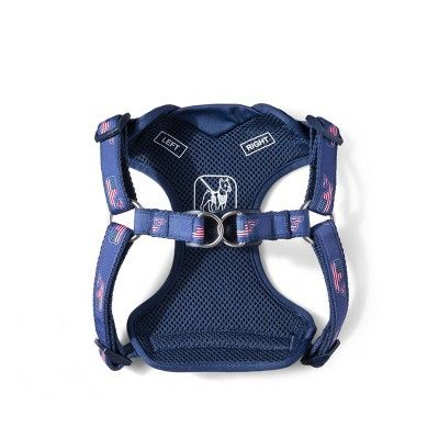 Flag Whale Dog Harness X Large Blue Vineyard Vines For