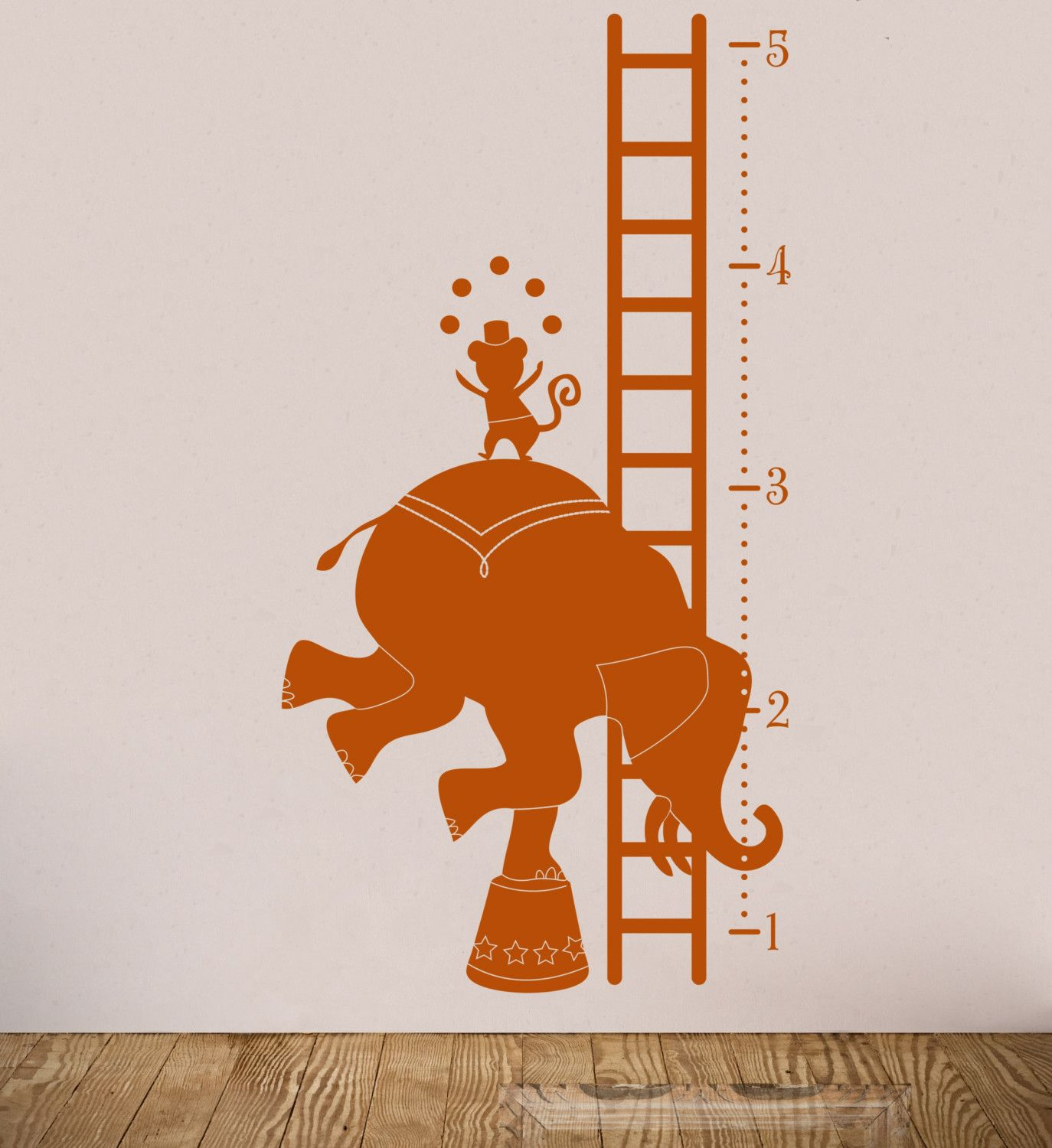 Wall graphic measuring height chart for kids wall graphics childrens circus growth chart vinyl wall decal by byrdiegraphi amipublicfo Gallery
