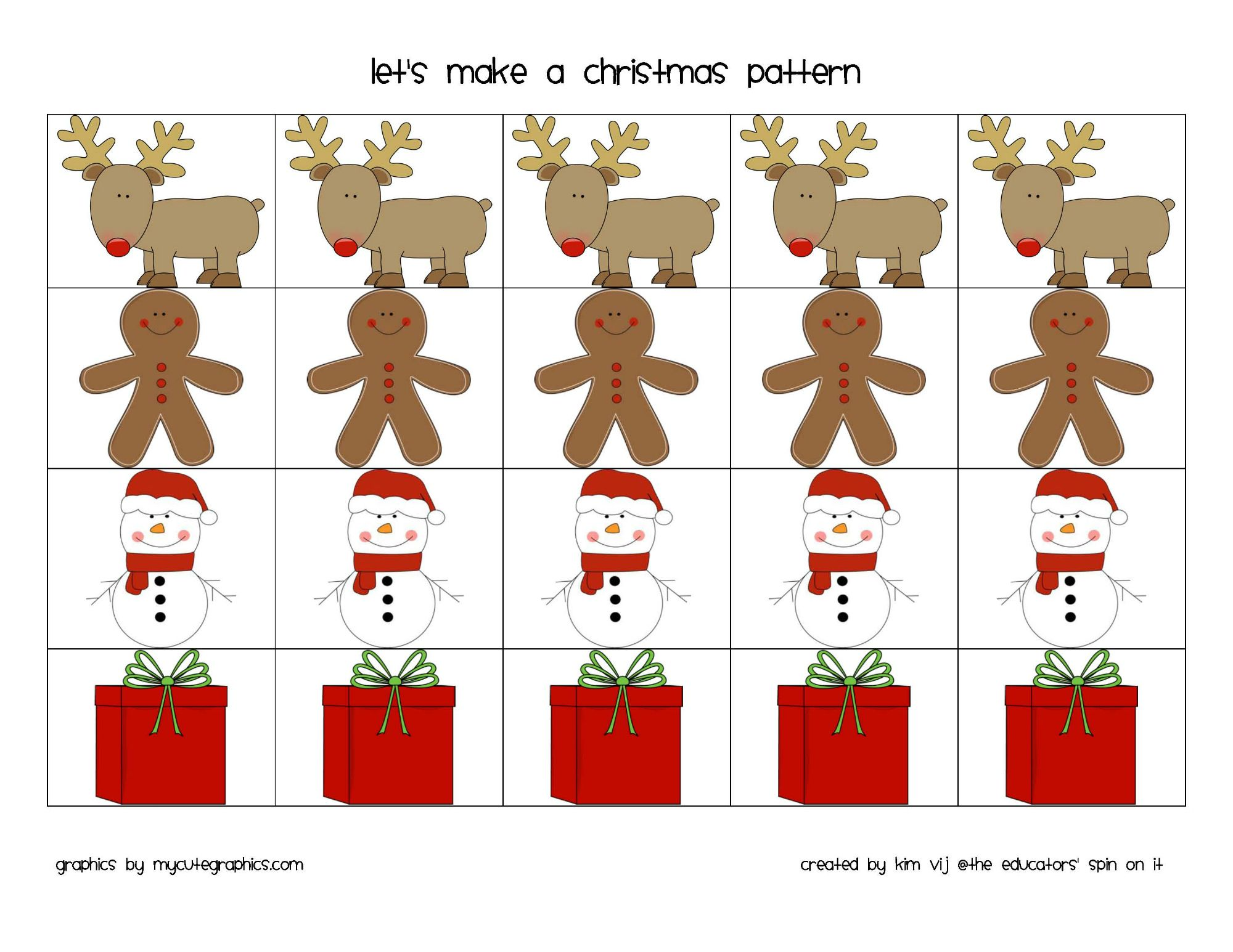 Printable Math Cards For Teaching Patterning With Kids