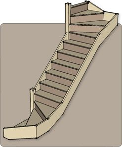 Best Add Turn In Staircase Half Turn Staircases 6 Kite 400 x 300