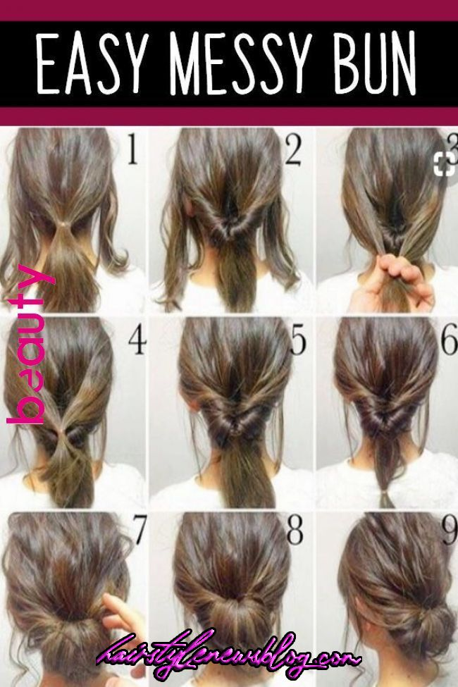 Punk Women Hairstyle In 2020 Hair Styles Messy Bun Hairstyles Easy Chignon