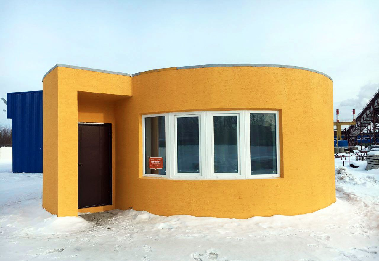 Russian company 3D prints a tiny house