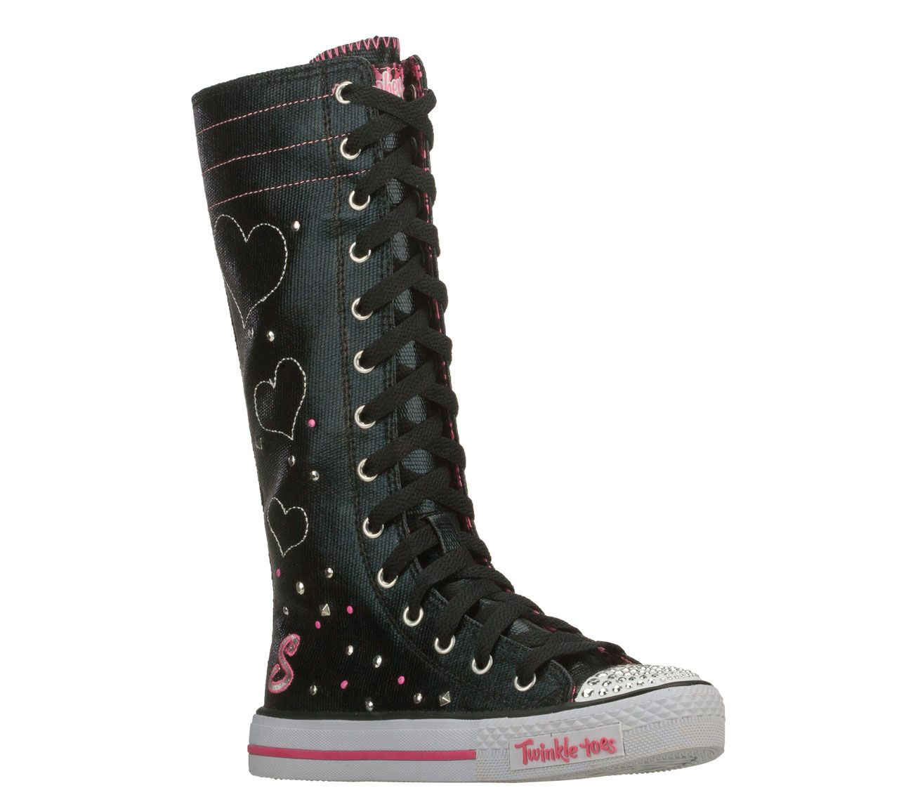 Buy Skechers Girls Twinkle Toes Shuffles Star Keepers High Top