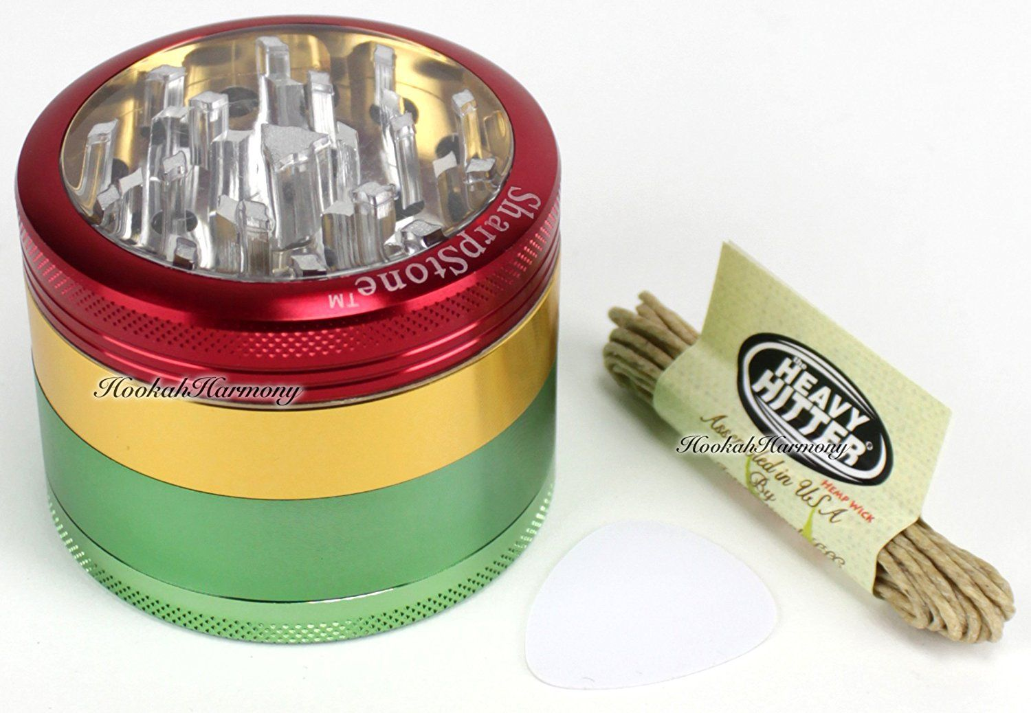 Sharpstone Grinder 2 5 Inch 4 Piece Clear Glass Magnetic Top Metal Pollen Screen Tobacco Spice Herb Grinder Crusher Herb Grinder Sharpstone Grinder Sharpstone