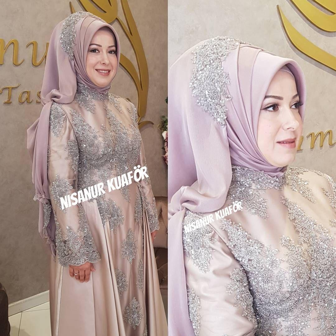 7 303 Likes 6 Comments Nisanur Sac Turban Tasarim Nsnur On Instagram Sunnet Annesi Turbanlar Sac Dugun
