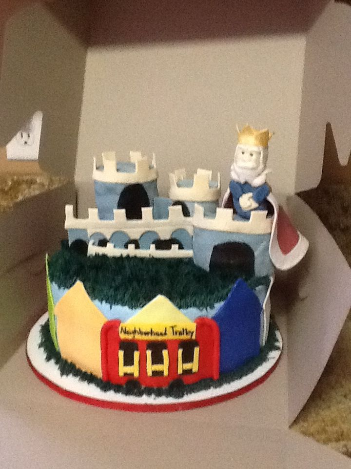Mr Rogers Neighborhood Cake Castle With King Friday