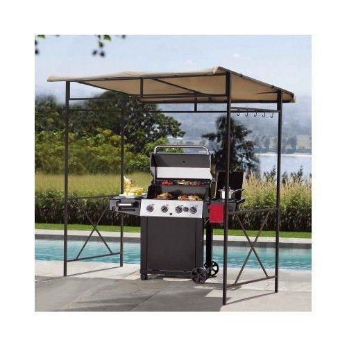 Backyard BBQ Patio Grill Shade Cover Canopy Gazebo Umbrella Tent Pergola Awning