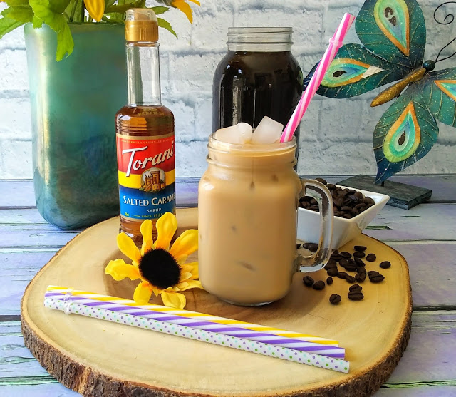 Dairy Free Salted Caramel Cold Brew Coffee Latte With