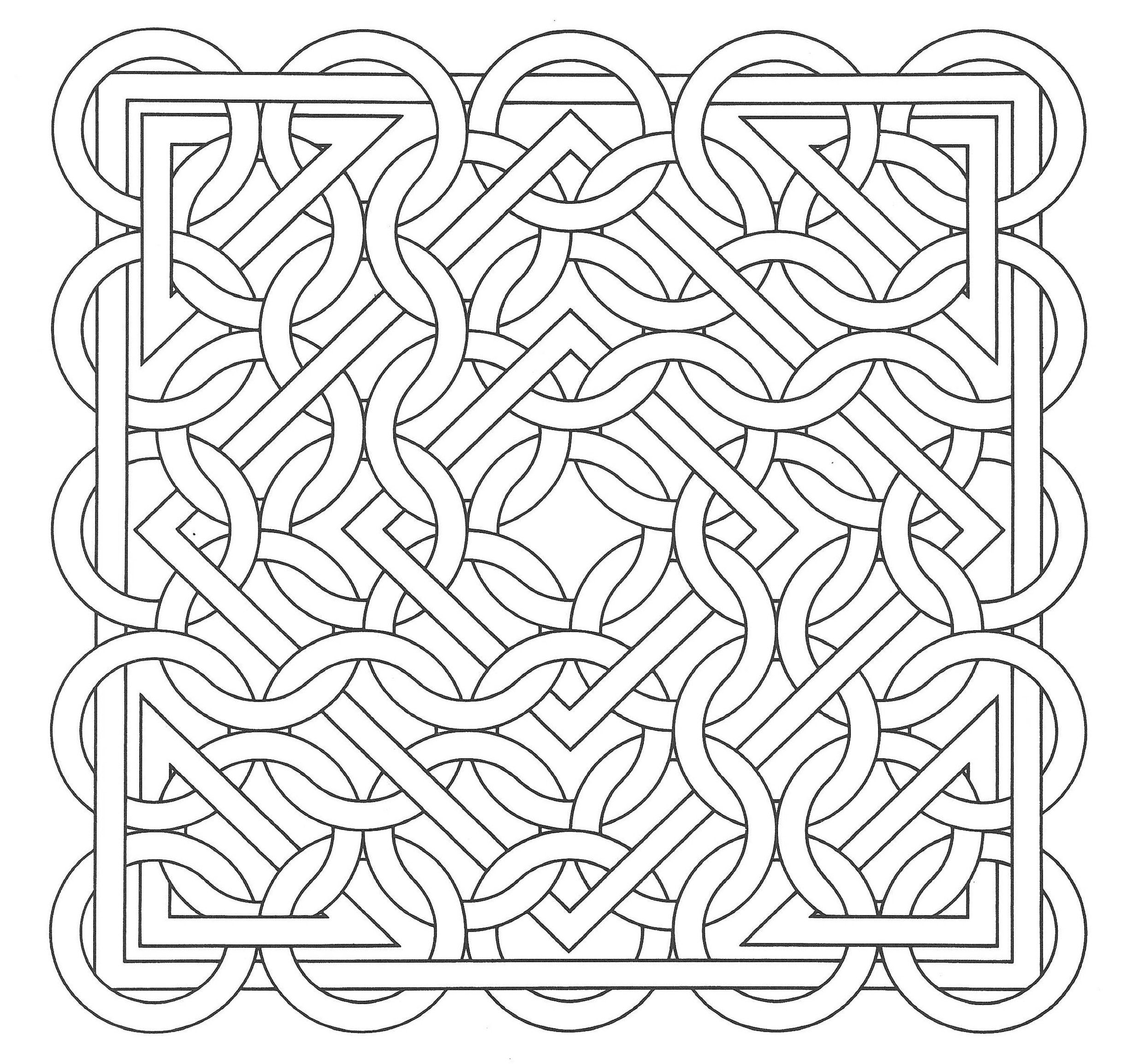 Free Coloring Page Coloring Op Art Jean Larcher 15 An Op